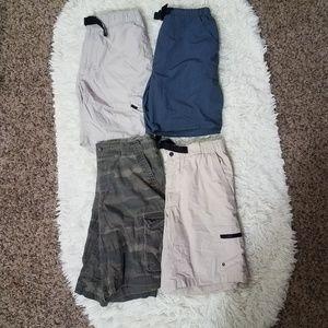 4 Piece Bundle Size M Cargo Shorts